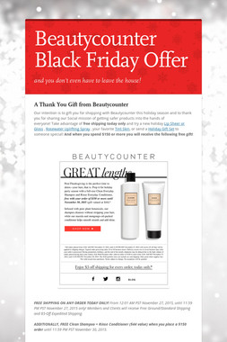 Beautycounter Black Friday Offer