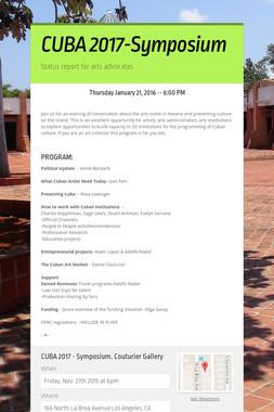 CUBA 2017-Symposium
