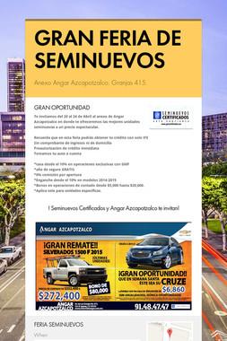 GRAN FERIA DE SEMINUEVOS