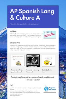 AP Spanish Lang & Culture A
