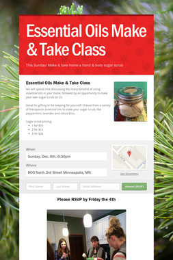 Essential Oils Make & Take Class