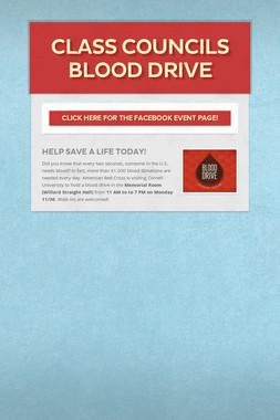 Class Councils Blood Drive