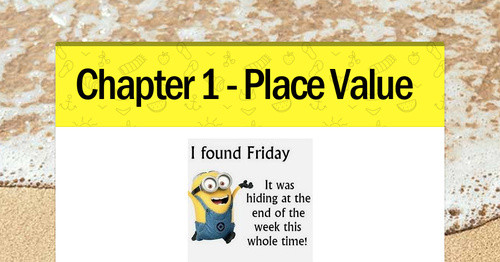 Chapter 1 - Place Value | Smore Newsletters