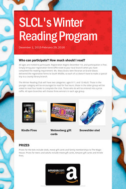 SLCL's Winter Reading Program
