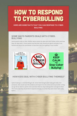 How to Respond to Cyberbulling
