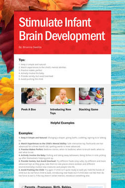 Stimulate Infant Brain Development