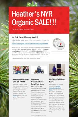 Heather's NYR Organic SALE!!!