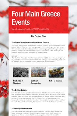 Four Main Greece Events