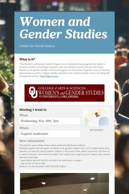 Women and Gender Studies
