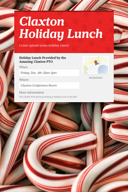 Claxton Holiday Lunch