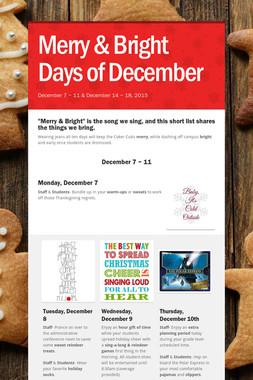 Merry & Bright Days of December
