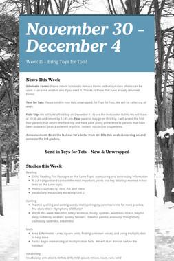 November 30 - December 4