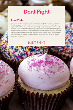 Dont Fight