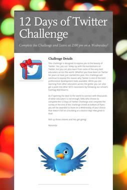 12 Days of Twitter Challenge