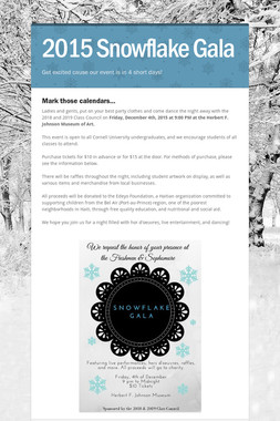 2015 Snowflake Gala