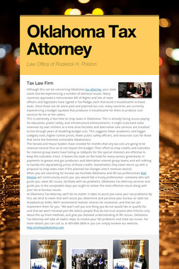 Oklahoma Tax Attorney