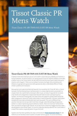 Tissot Classic PR Mens Watch