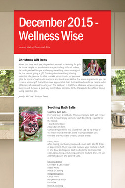December 2015 - Wellness Wise