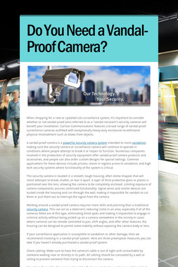 Do You Need a Vandal-Proof Camera?