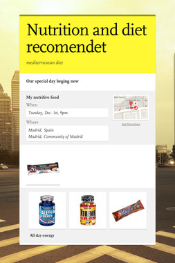 Nutrition and diet recomendet