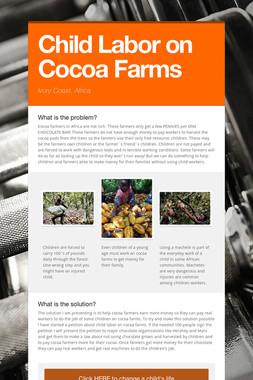 Child Labor on Cocoa Farms