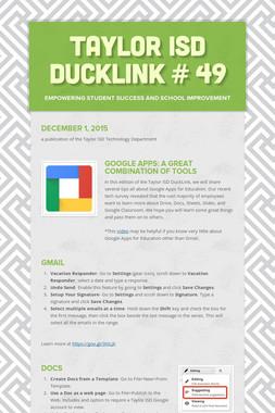 Taylor ISD DuckLink # 49