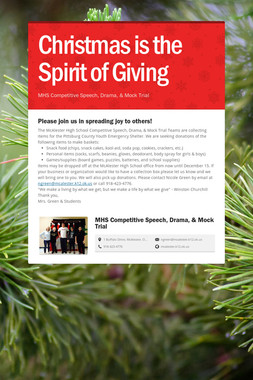 Christmas is the Spirit of Giving