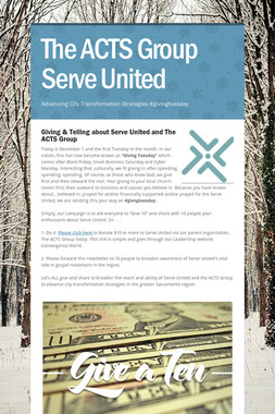 The ACTS Group Serve United
