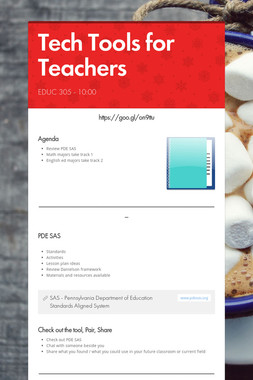 Tech Tools for Teachers