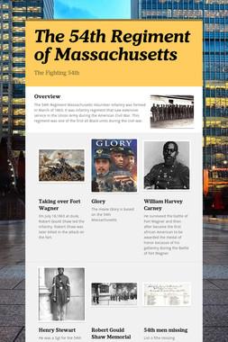 The 54th Regiment of Massachusetts