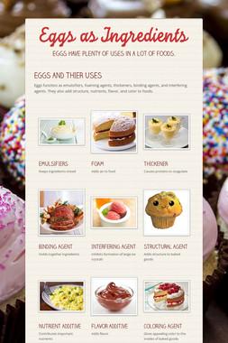 Eggs as Ingredients