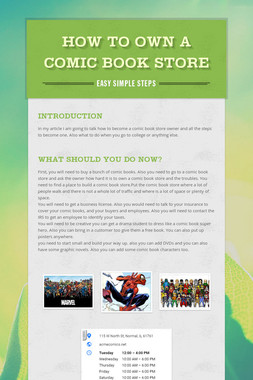 How To Own A Comic Book Store