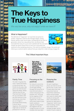The Keys to True Happiness