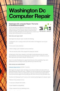 Washington Dc Computer Repair