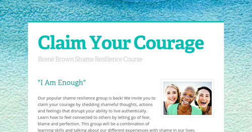claim your courage