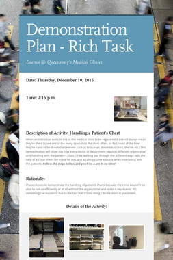 Demonstration Plan - Rich Task