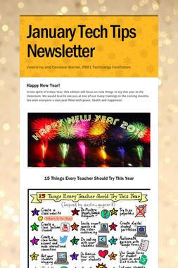 January Tech Tips Newsletter
