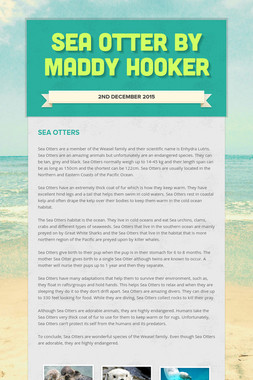 Sea Otter By Maddy Hooker