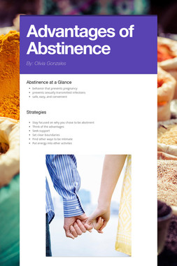 Advantages of Abstinence
