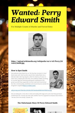 Wanted: Perry Edward Smith