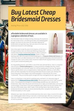 Buy Latest Cheap Bridesmaid Dresses