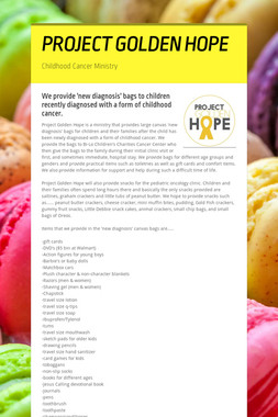 PROJECT GOLDEN HOPE