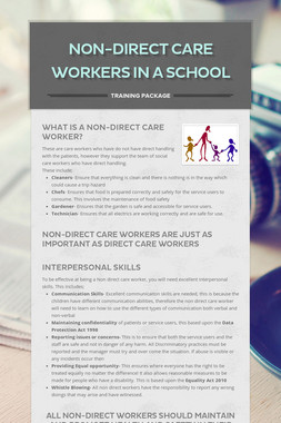 Non-Direct Care Workers in a school