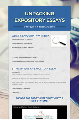 Unpacking Expository Essays