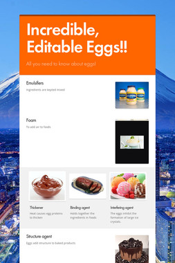 Incredible, Editable Eggs!!