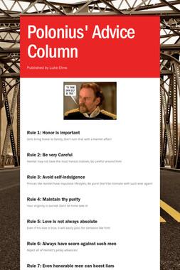 Polonius' Advice Column