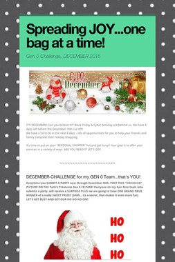 Spreading JOY...one bag at a time!