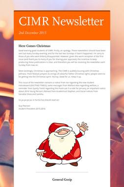 CIMR Newsletter