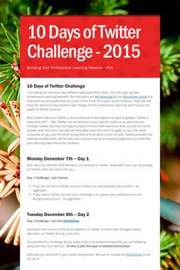 10 Days of Twitter Challenge - 2015