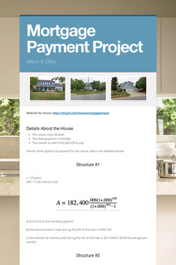 Mortgage Payment Project